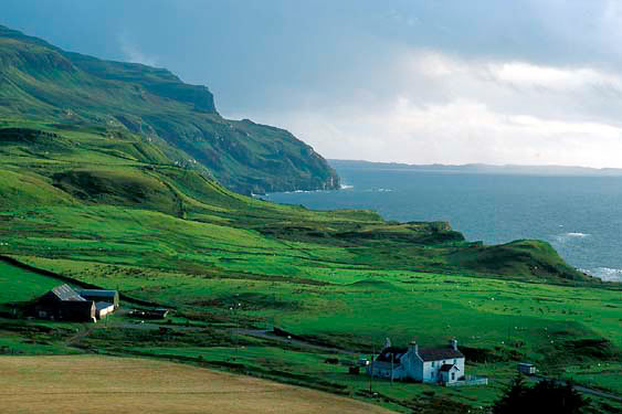 Velvet green coastal cliffs, Isle of Mull