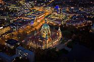 Nachtbild Neues Rathaus