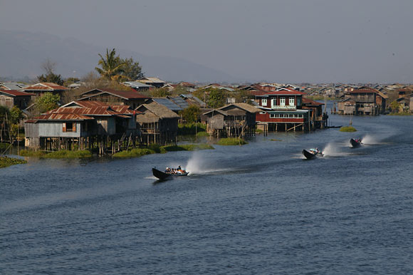 Motorboats, Inle Lake