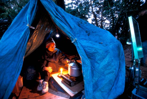This homeless woman has lived 2 years in her tent shelter, Ueno Park