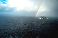 Rainbow above Little Skellig