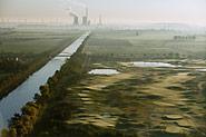 Golfplatz Rethmar und Kraftwerk Mehrum