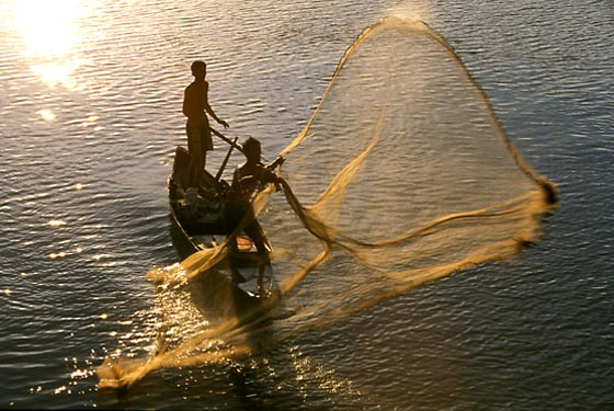 Fishermen, Stung Sen River