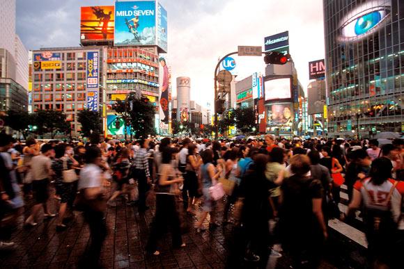 Rush hour Shibuya Square