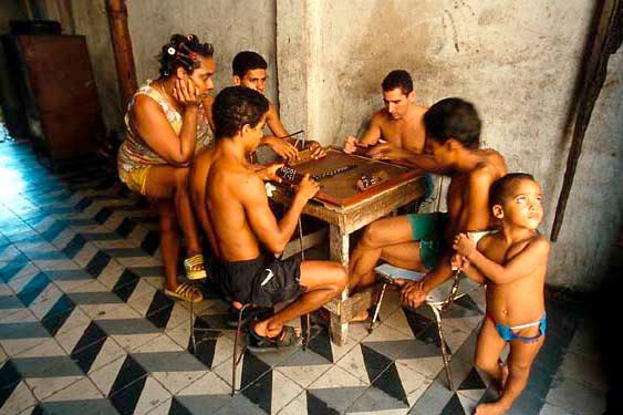 Domino players, Santiago de Cuba