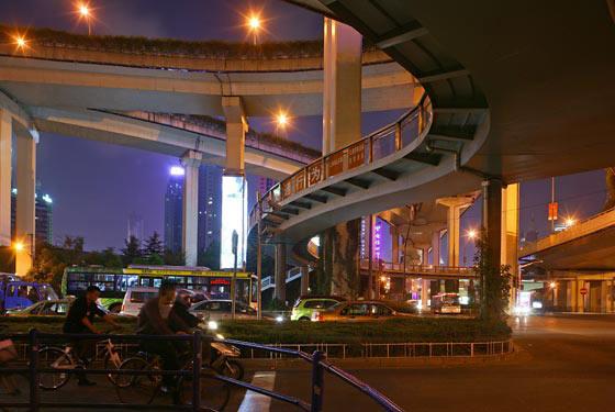 Multi-storied highway junction