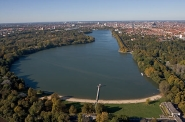 Aerial of Maschsee Lake