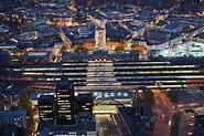Nachtblick über Hauptbahnhof