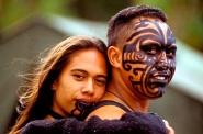 Maori couple, Waitangi Day, Waitangi