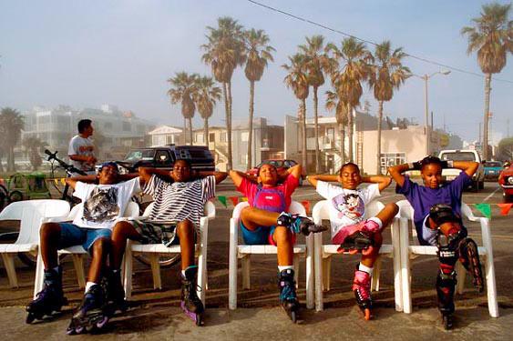 Inline skaters, Santa Monica