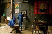 village hairdresser in traditional house, Hongcun