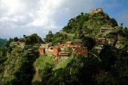 Monastery village below the peak of Wudang Shan
