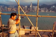 Bamboo scaffolding, skyline