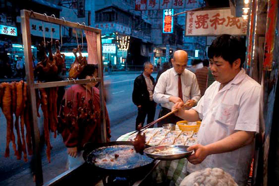 Street kitchen, Shanghai Street, Mangkok