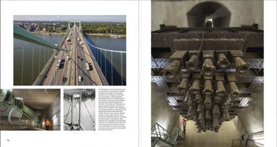 Historische Rheinbrücke (1940) der A4 bei Köln-Rodenkirchen