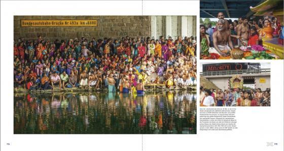 Hinduistisches Pilgerfest unter der A2-Autobahnbrücke von Hamm-Uentrop