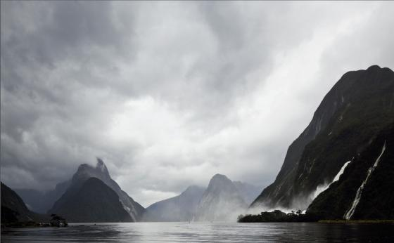 Dramatic weather at Milford Sound