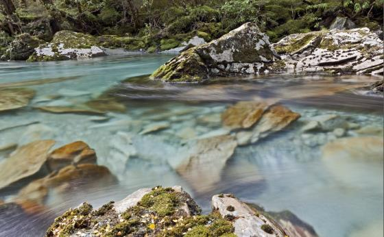 Route Burn river, Mount Aspiring NP