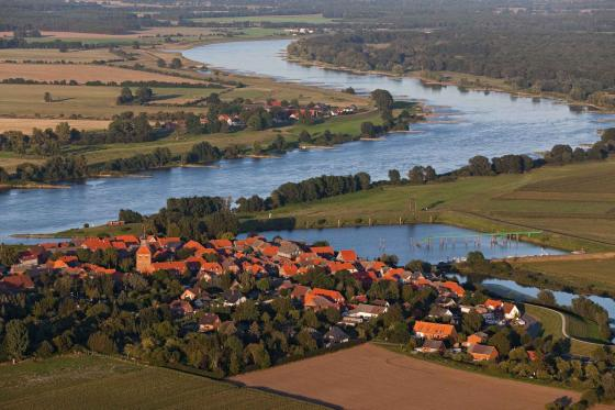 Schnackenburg village on the Elbe
