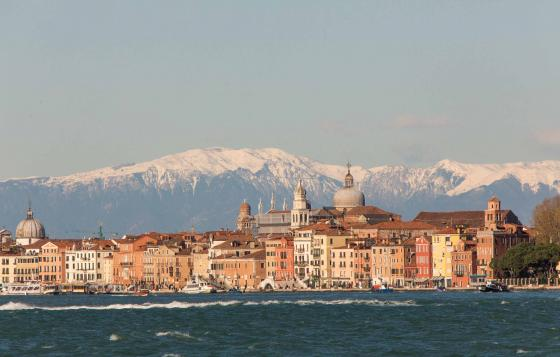 Venice with Dolomite mountains