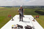 Photographing maintenance work, GE windpark Eifel