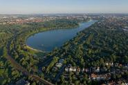 Bird's view of the Maschsee